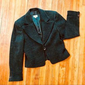 Zanella size 4 wool blend charcoal blazer